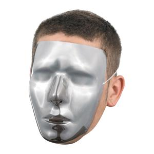 Blank Chrome Male Face Mask