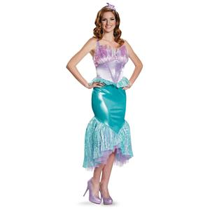 Ariel Little Mermaid Deluxe Costume Adult Small 4-6