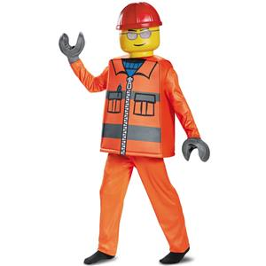 Lego Construction Worker Deluxe Child Costume Large 10-12