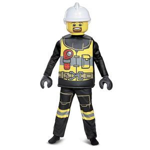 Lego Firefighter Deluxe Child Costume Medium 7-8