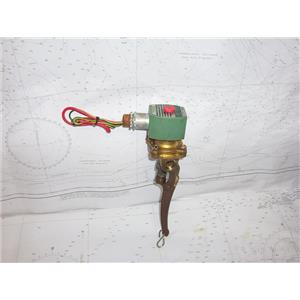 """Boaters' Resale Shop of TX 2101 4145.07 ASCO RED HAT II 3/8"""" VALVE WITH LEVER"""