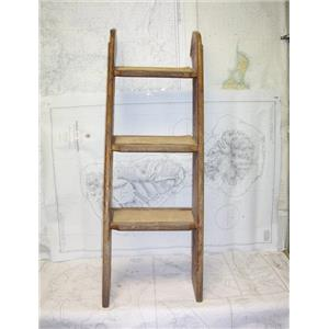 Boaters' Resale Shop of TX 2101 4122.02 TEAK 3 STEP COMPANIONWAY LADDER ONLY