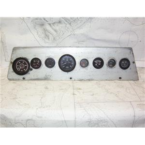 "Boaters' Resale Shop of TX 2102 2142.12 ENGINE 8 GUAGE PANEL ASSEMBLY 7.5"" x 30"""