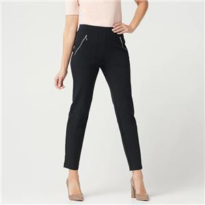 Susan Graver Size 3X Black Regular Weekend Premium Stretch Pull-On Pants