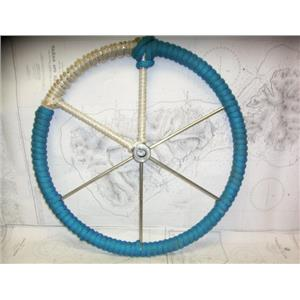 """Boaters' Resale Shop of TX 2103 0742.01 LINE WRAPPED 24"""" STEERING WHEEL-1"""" SHAFT"""