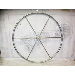 """Boaters' Resale Shop of TX 2103 0742.02 STAINLESS 28"""" STEERING WHEEL - 1"""" SHAFT"""