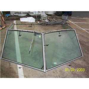 Boaters' Resale Shop of TX 2104 0777.14 SEARAY 27 WINDSHEILD ASSEMBLY (4 PIECES)