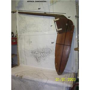Boaters' Resale Shop of TX 2104 0777.12 TEAK RUDDER/TILLER ASSEMBLY