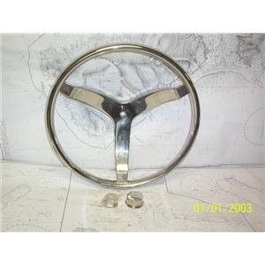 """Boaters' Resale Shop of TX 2103 2671.01 SEACHOICE 15.5"""" SS WHEEL FOR 3/4"""" SHAFT"""