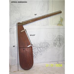 Boaters' Resale Shop of TX 2104 1572.02 TEAK RUDDER & TILLER COMBO
