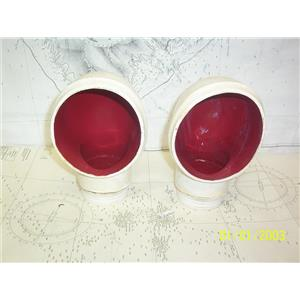 """Boaters' Resale Shop of TX 2105 0751.51 PAIR OF 3"""" RUBBER COWL VENTS"""