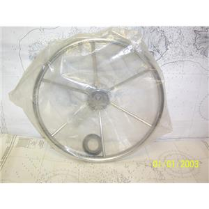 """Boaters' Resale Shop of TX 2105 1777.05 STAINLESS 15.5"""" DISH:4.21 STEERING WHEEL"""