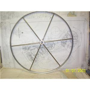 """Boaters' Resale Shop of TX 2106 0752.01 SS 32"""" STEERING WHEEL FOR 1"""" SHAFT"""