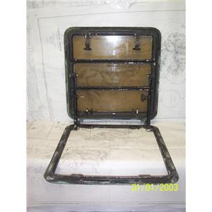 """Boaters' Resale Shop of TX 2106 4451.04 MARINE OPENING HATCH W/ 19""""x19"""" CUT-OUT"""