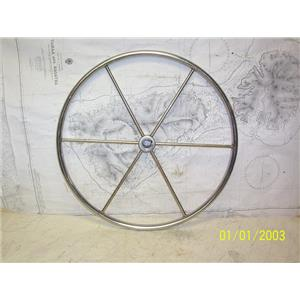 """Boaters' Resale Shop of TX 2107 1154.01 SS 22"""" STEERING WHEEL FOR 1"""" SHAFT"""