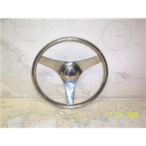 """Boaters' Resale Shop of TX 2108 0751.07 SS 13"""" STEERING WHEEL FOR 3/4"""" SHAFT"""