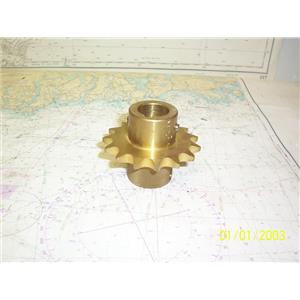 """Boaters' Resale Shop of TX 1905 2445.12 EDSON MARINE CHAIN SPROCKET FOR 1"""" SHAFT"""