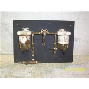 Boaters' Resale Shop of TX 2108 2121.27 RACOR DUAL FILTER/WATER SEPARATOR SYSTEM