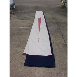 """Boaters' Resale Shop of TX 2108 1424.01 C&C WHITE BOOM SAIL COVER 32"""" x 16 FEET"""