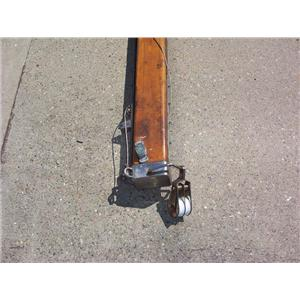 Boaters' Resale Shop of TX 2109 2451.94 WOODEN 12 FOOT BOOM & HARDWARE ASSEMBLY