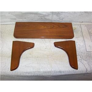 """Boaters' Resale Shop of TX 2110 0752.02 WOODEN 20"""" SHELF FOOTREST with 9"""" LEGS"""