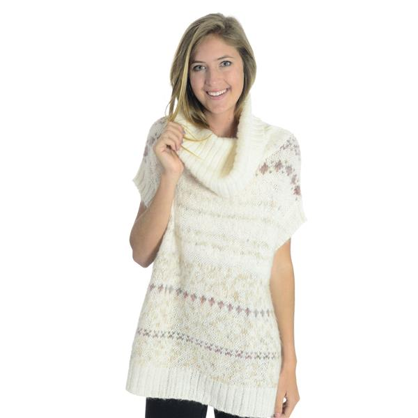 NEW Free People Snow Bunny Cowl Neck Sweater Vest Fair Isle in ...