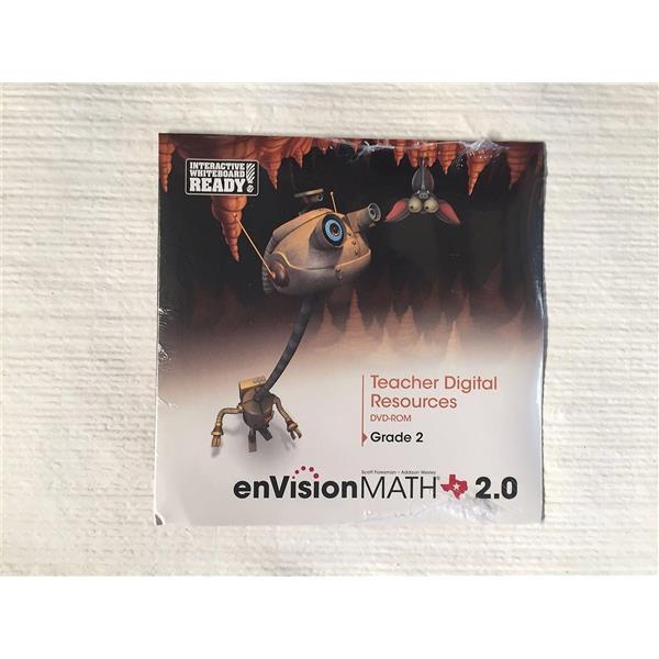Pearson Texas enVisionMath 2 0 Teacher Digital Resources DVD-ROM Grade 2  *NEW*