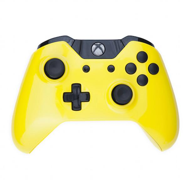 Mod Freakz Custom Series Xbox One Controller Shell/Buttons Gloss Yellow  with Black Buttons