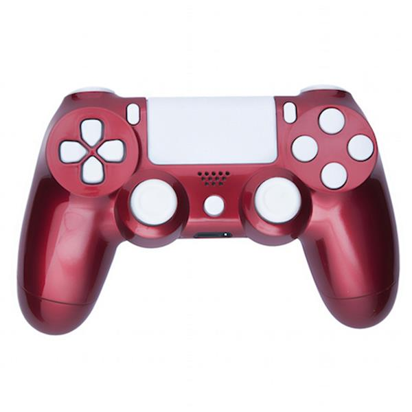Mod Freakz Custom Series PS4 Controller Shell/Buttons Crimson Red with  White Buttons