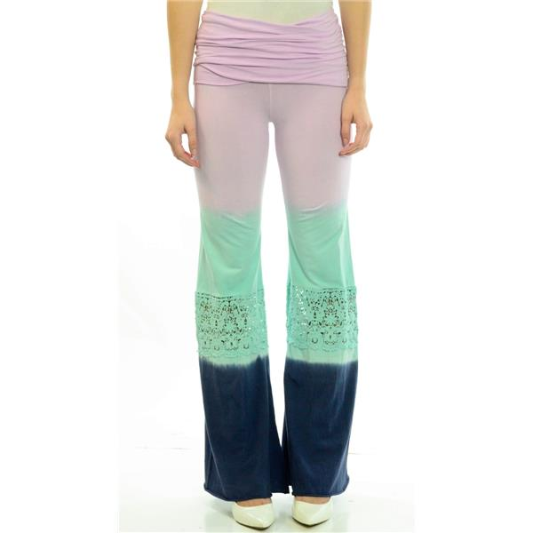 New Nightcap Clothing Crochet Beach Pant In Twilight Dip Dye Purple