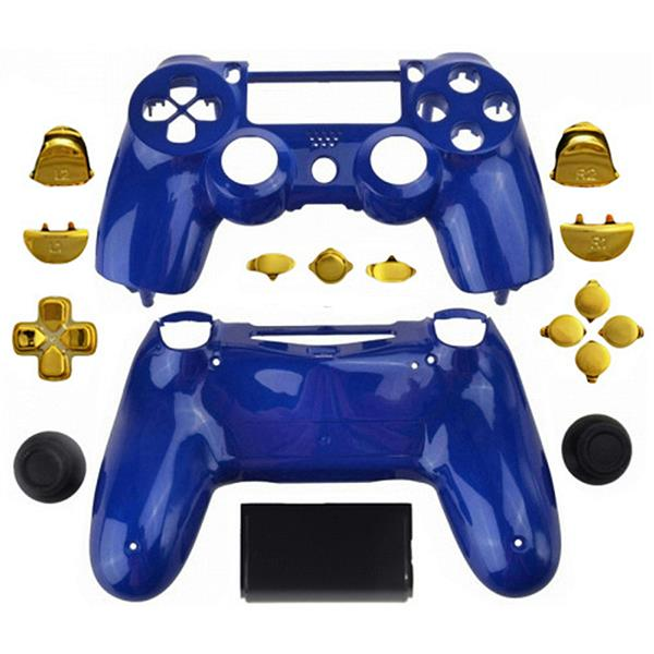 Mod Freakz Custom Series PS4 Controller Shell/Buttons Royal Blue with Gold  Buttons