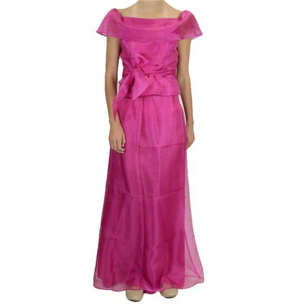 3ef08fa1b48269 Brand New Ursula of Switzerland Hot Pink Chiffon Evening Set Off Shoulder  Blouse Skirt . Cash in the Closet