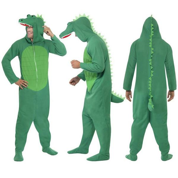 Smiffys Mens Crocodile Costume All in One with Hood