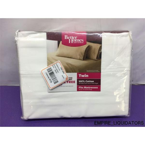 amazing better homes and garden sheets. Better Homes and Gardens 300 Thread Count Wrinkle Free Sheet Set in White  NEW