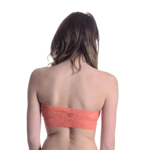0f3e928a402 ... NEW S Intimately Free People Mango Orange Lace Basic Bandeau Strapless  Bralette