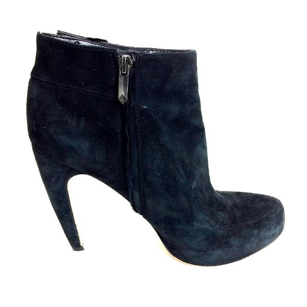 eafc8e14d733b5 8.5 Sam Edelman Black Suede Leather Pointed Toe High Heel Bootie w Buckle  Detail . Cash in the Closet