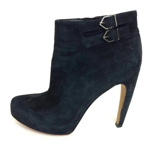 9708a638c60a9c ... 8.5 Sam Edelman Black Suede Leather Pointed Toe High Heel Bootie w  Buckle Detail ...