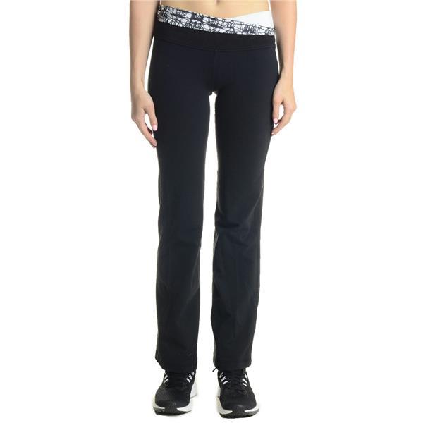 2d638227de Sz 4 Lululemon Black w/ Printed Banded Waist Straight Leg Astro Style Yoga  Pants . Cash in the Closet