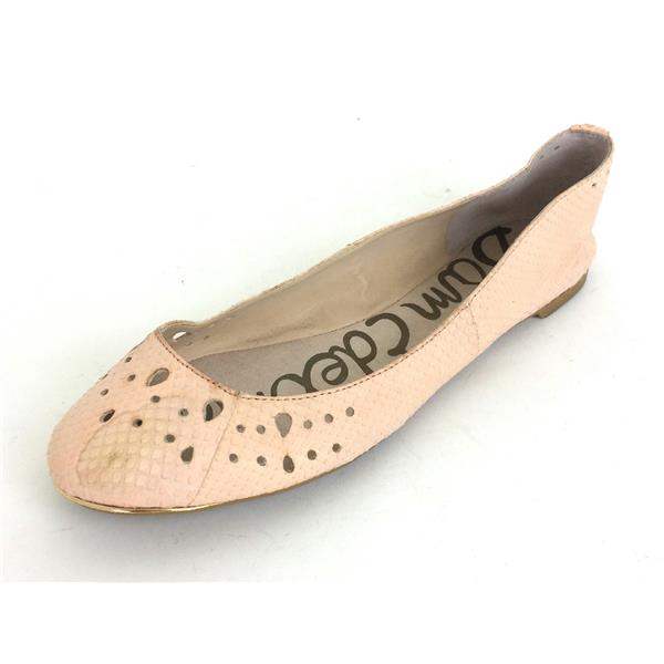 14f9a1a1a827b6 Sz 9.5 Sam Edelman Leighton Pale Pink Textured Leather Round Toe Ballet  Flats . Cash in the Closet