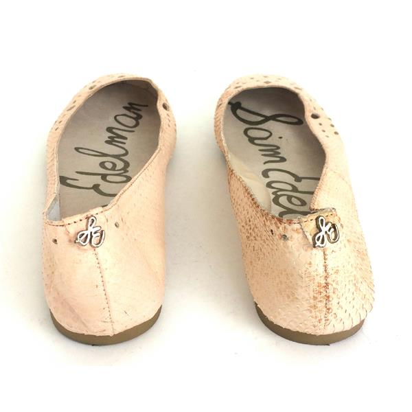 33ba5e40d ... Sz 9.5 Sam Edelman Leighton Pale Pink Textured Leather Round Toe Ballet  Flats ...