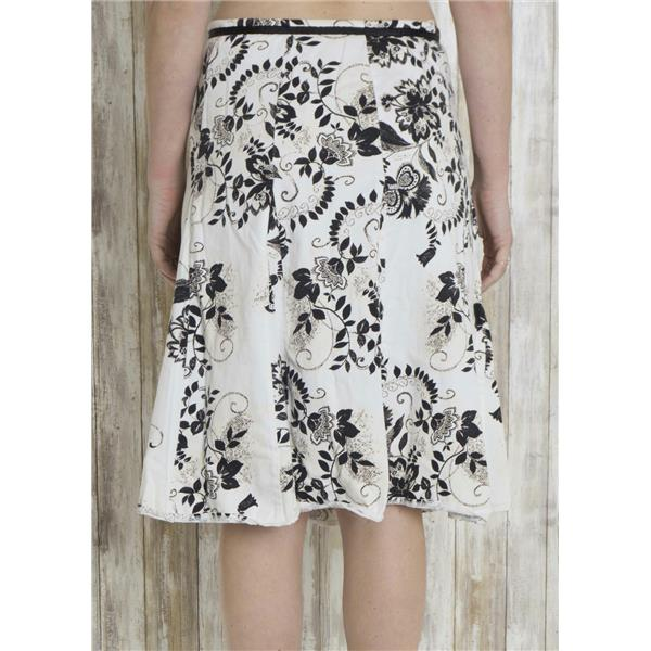8403a6d6590fc4 ... M Jonathan Martin Studio Black/White Floral A-Line Skirt Knee Length  Ribbon Tie