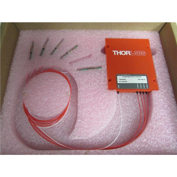 Thorlabs TWQ850HA - 1x4 Wideband Fiber Optic Coupler, 850nm