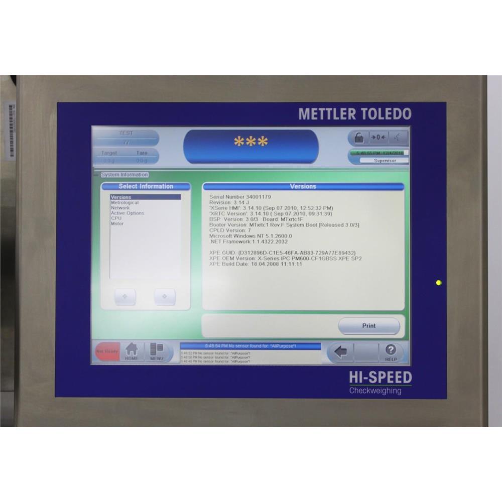 Mettler Toledo Garvens XS2 MV Hi-Speed Checkweigher Domino D550+ Laser  Coder BCP