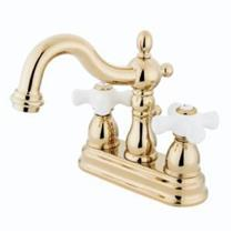 KINGSTON BATHROOM SINK FAUCET POLISHED BRASS KB1602PX