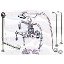 KINGSTON BRASS CCK1008T1 POLISHED CHROME CLAWFOOT TUB FAUCET KIT
