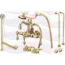 Kingston Brass Clawfoot Tub Faucet Kit Polished Brass - CCK1007T2