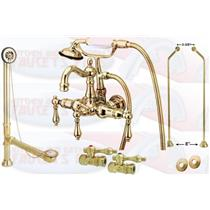 Kingston Brass Clawfoot Tub Faucet Kit Polished Brass - CCK1007T2-DO