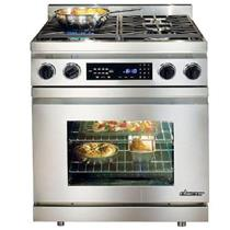 "Dacor 30"" 4 Burner Smart Flame Tech Convection Pro-Style Dual-Fuel Range DR30DNG"