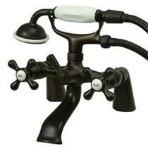 Kingston Brass Deck Mount Clawfoot Tub Filler With Hand Shower - Oil Rubbed Bronze Model # KS267ORB