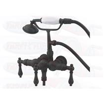 "Kingston Brass 3-3/8"" Center Wall Mount ClawFoot Tub Filler & Hand Shower Oil Rubbed Bronze CC19T5"